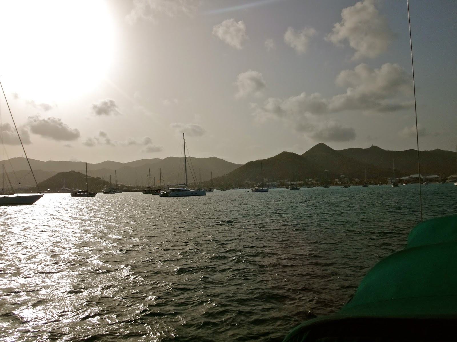 Our sail from the British Virgin Islands to St. Marten went smooth and we  arrived around mid-night in Marigot Bay, we laid the anchor and went to bed.